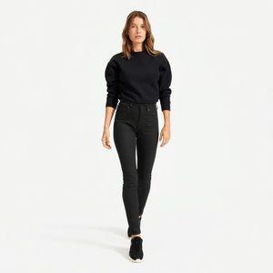 EVERLANE high rise skinny jean in black NWT